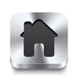 square metal button perspektive - house icon