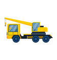 truck with crane concept vector image