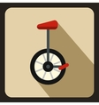 Unicycle icon in flat style vector image vector image