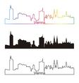 Vienna skyline linear style with rainbow vector image vector image