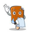 waiter ice cream character cartoon vector image vector image
