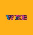 web concept word art vector image vector image
