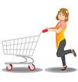 wife supermarket shopping lifestyle vector image vector image