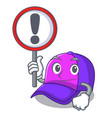 with sign cap shape in the a cartoon vector image