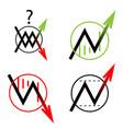 set icon arrow up down move vector image