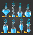 big set with different magic elixir vector image