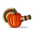 Turkey And Pumpkin vector image