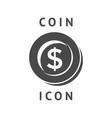 digital black business coin vector image
