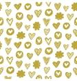 heart pattern in golden color vector image