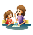 mom and kid vector image