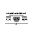 grand opening ceremony emblem vector image
