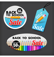 017 Collection of back to school sale with color vector image vector image