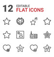 12 favorite icons vector image vector image