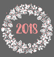 2018 with wreath vector image vector image