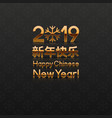 2019 chinese new years greeting card vector image vector image