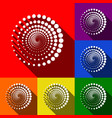 abstract technology circles sign set of vector image