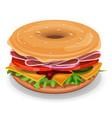 american bagel vector image