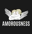 amorousness hand drawn hugging vector image