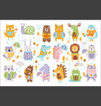 animal woodland autumn set cartoon of cute vector image vector image