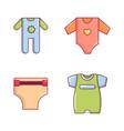 baby clothes icon set cartoon style vector image vector image
