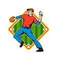 Baseball Player Pitcher Throwing Ball vector image vector image
