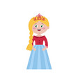 beautiful princess in elegant tiara vector image vector image