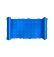blue scroll with engineering marks blank vector image vector image