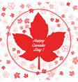 canada seamless pattern happy canada day vector image vector image