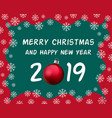 christmas and happy new year celebration card vector image