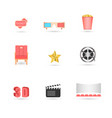 cinema icons set movie web site creative 3d vector image