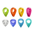 colored map pointers various colors of gps vector image vector image