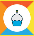 cupcake icon colored line symbol premium quality vector image vector image