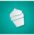 cupcake icon Eps10 vector image vector image