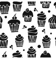 cupcakes collection seamless pattern for your vector image vector image