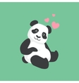 Cute Panda In Love Bamboo vector image vector image