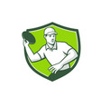 disc golf player throwing front mascot crest vector image vector image