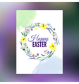 easter greeting card watercolor hand drawn vector image