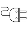 energy plug isolated icon vector image vector image
