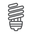 energy saving line icon ecology lamp and energy vector image vector image