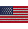 Flags USA on denim texture vector image