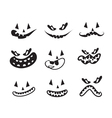 ghost faces pumpkin faces vector image vector image