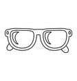 glasses lens cartoon vector image