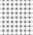 Grey checkered geometric seamless pattern vector image vector image