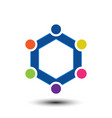 home family logo vector image vector image