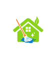 house cleaning service logo vector image