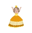 Little Girl In Sleeveless Yellow Dress Dressed As vector image vector image