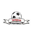 logo football league vector image vector image