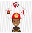 man firefighter extinguisher vector image