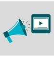 marketing digital video player concept vector image