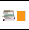 orange book and pile pf vector image